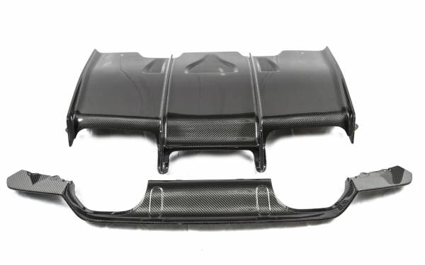 BMW 3 SERIES F80 M3 PSM Dynamic CARBON Rear Diffuser w/ Under Tray Combo